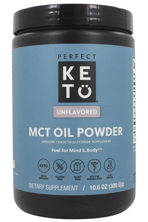 Perfect Keto - MCT Oil Powder Medium Chain Triglyceride Supplement - 10.6 oz.