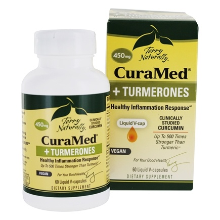 EuroPharma - Terry Naturally CuraMed + Turmerones Healthy Inflammation Response 450 mg. - 60 Liquid Capsules