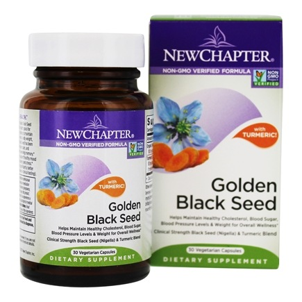 New Chapter - Golden Black Seed with Turmeric - 30 Vegetarian Capsules