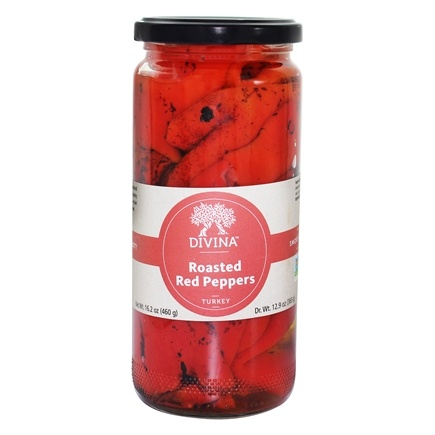 Divina - Roasted Red Peppers - 16.2 oz.