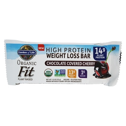 Buy Garden Of Life Organic Fit High Protein Weight Loss Bar Chocolate Covered Cherry 1 9 Oz