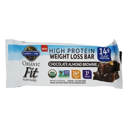 garden of life weight loss. Garden Of Life - Organic Fit High Protein Weight Loss Bar Chocolate Almond Brownie 1.9