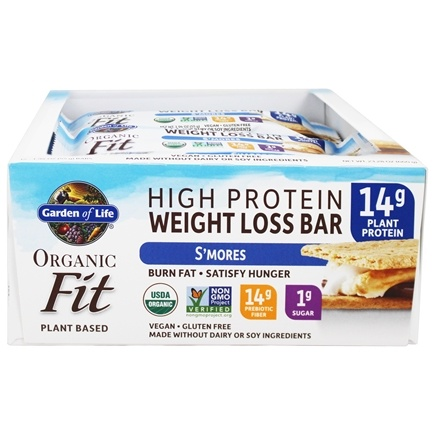 Buy Garden Of Life Organic Fit High Protein Weight Loss Bars S 39 Mores 12 Bars At