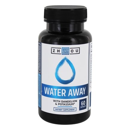 DROPPED: Zhou - Water Away for Water Weight Loss & Bloating - 60 Capsules
