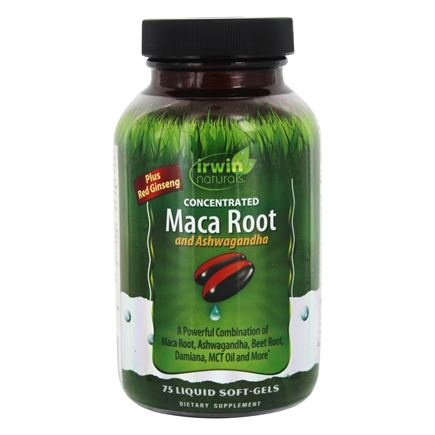 Irwin Naturals - Concentrated Maca Root & Ashwagandha - 75 Liquid Softgels