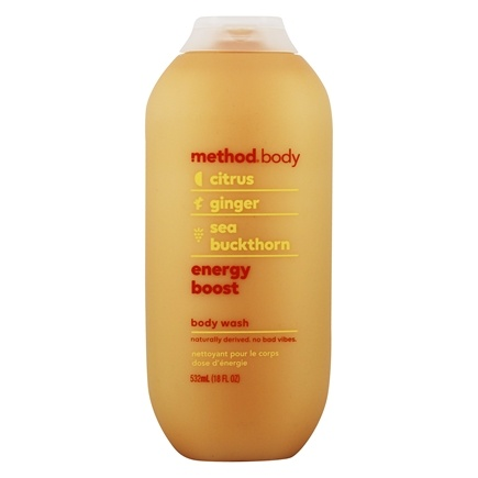 Method - Energy Boost Body Wash Citrus, Ginger & Sea Buckthorn - 18 fl. oz.