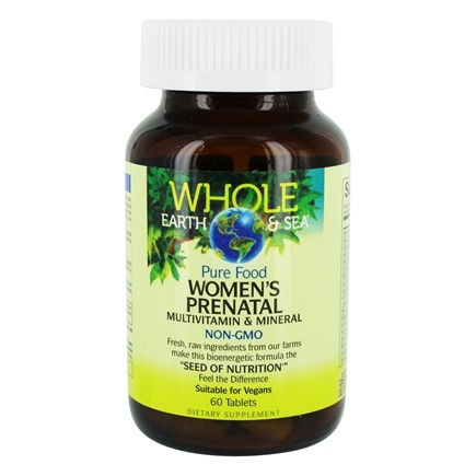 Pure Food Women's Prenatal Multivitamin & Mineral - 60 Tablets by Whole  Earth & Sea