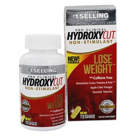 Muscletech Products - Hydroxycut Pro Clinical Fat Burner Non-Stimulant - 72 Capsules