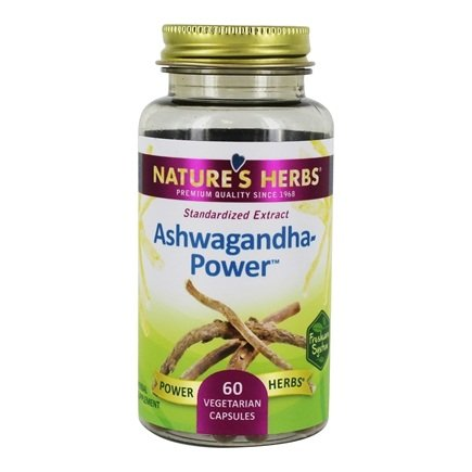 Nature's Herbs - Ashwagandha Power - 60 Vegetarian Capsules