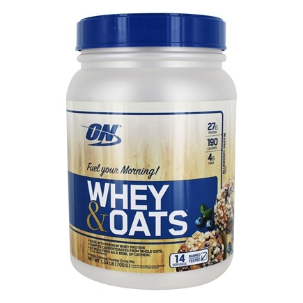 Optimum Nutrition - Whey & Oats Protein Powder Blueberry Muffin - 1.54 lb.