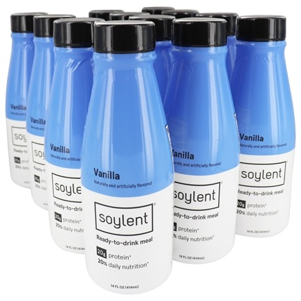 12-Pack Soylent Meal Replacement Shake, Vanilla, 14 Oz Bottles