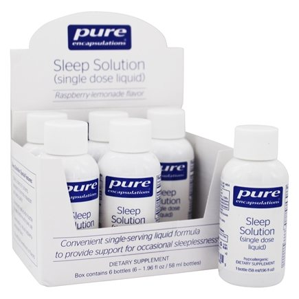 Pure Encapsulations - Sleep Solution Single Dose Liquid Raspberry-Lemonade - 6 Bottle(s)