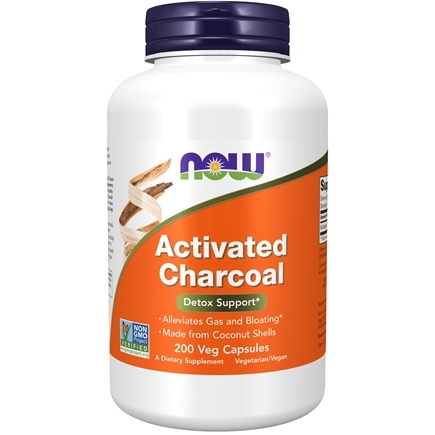 NOW Foods - Activated Charcoal Detox Support - 200 Vegetable Capsule(s)