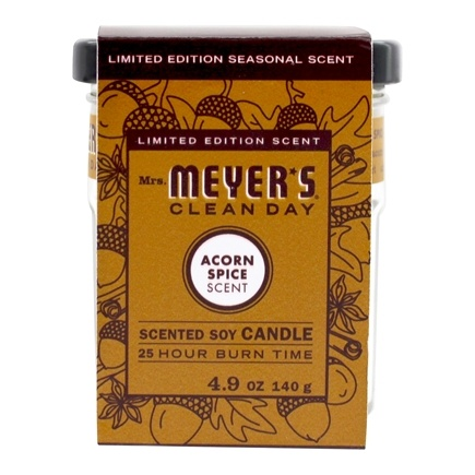 Mrs. Meyer's - Clean Day Scented Soy Candle Acorn Spice - 4.9 oz.