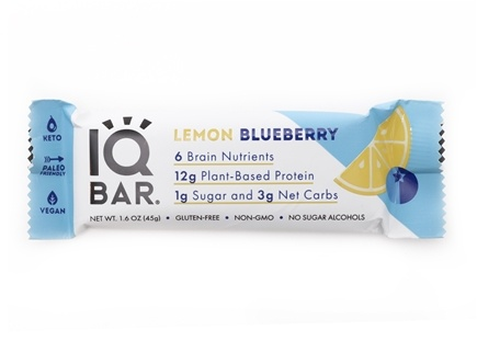 IQ Bar - Brain + Body Bar Lemon Blueberry - 1.6 oz.