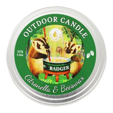 Badger - Outdoor Candle Citronella & Beeswax - 5.9 oz.