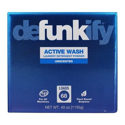 Defunkify - Active Wash Powder Laundry Detergent 68 Loads Unscented - 40 oz.