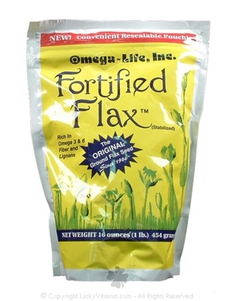 DROPPED: Omega-Life, Inc. - Fortified Flax Stabilized Original Ground Flax Seed - 1 lbs.