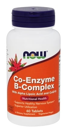 DROPPED: NOW Foods - Co-Enzyme B Complex with Alpha Lipoic Acid & CoQ10 - Enteric Coated - 60 Tablets
