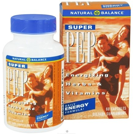 DROPPED: Natural Balance - Super Pep Daily Energy Formula - 60 Capsules CLEARANCE PRICED