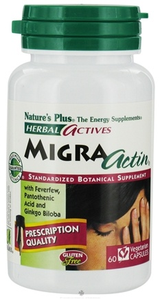 DROPPED: Nature's Plus - Herbal Actives MigraActin - 60 Vegetarian Capsules CLEARANCE PRICED