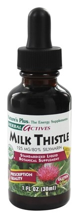 Nature's Plus - Herbal Actives Milk Thistle Liquid Suspension 125 mg. - 1 oz.