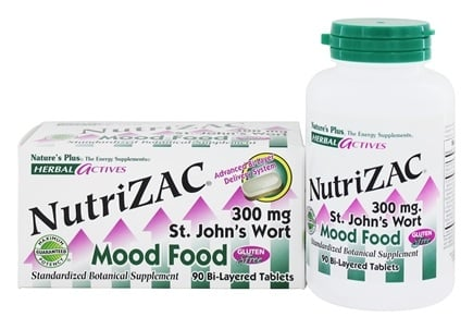 Nature's Plus - Herbal Actives NutriZAC Mood Food - 90 Tablets