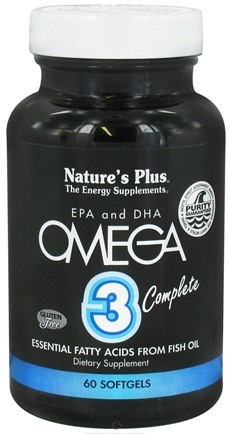 DROPPED: Nature's Plus - Omega 3 Complete EPA and DHA - 60 Softgels CLEARANCE PRICED