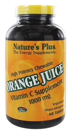 DROPPED: Nature's Plus - Orange Juice Chewable Vitamin C 1000 mg. - 60 Chewable Tablets