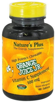 DROPPED: Nature's Plus - Orange Juice Jr. Vitamin C 100 mg. - 90 Chewable Tablets