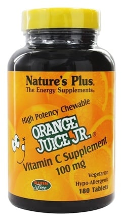 DROPPED: Nature's Plus - Orange Juice Jr. Vitamin C 100 mg. - 180 Chewable Tablets