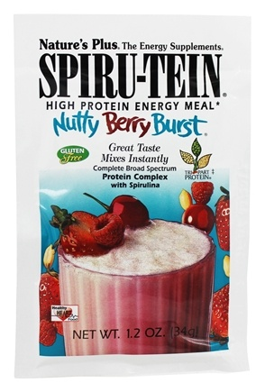 Nature's Plus - Spiru-Tein High Protein Energy Meal Nutty Berry Burst - 1 Packet
