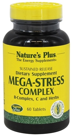 DROPPED: Nature's Plus - Mega-Stress Complex Sustained Release - 60 Tablets