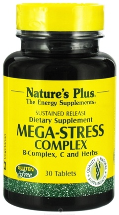DROPPED: Nature's Plus - Mega-Stress Complex Sustained Release - 30 Tablets