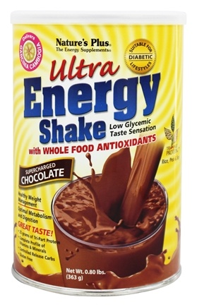Nature's Plus - Ultra Energy Shake Supercharged Chocolate Flavor - 0.8 lbs.