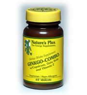 DROPPED: Nature's Plus - Ginkgo Combo - 90 Vegetarian Capsules CLEARANCE PRICED