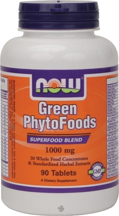 DROPPED: NOW Foods - Green Phytofoods 1000 mg. - 90 Tablets CLEARANCE PRICED