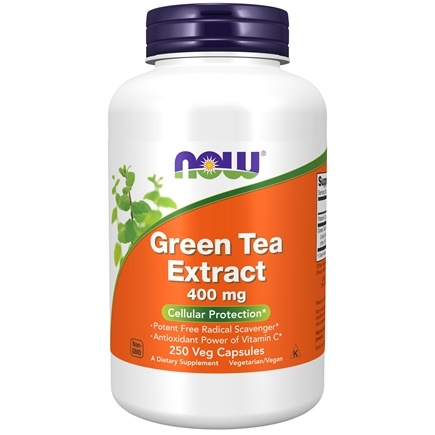 NOW Foods - Green Tea Extract 400 mg. - 250 Capsules