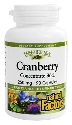 DROPPED: Natural Factors - Cranberry Concentrate 250 mg. - 90 Capsules