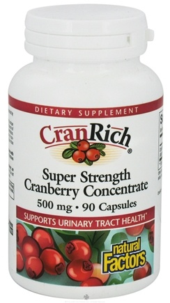 Natural Factors - CranRich Super Strength Cranberry Concentrate 500 mg. - 90 Capsules