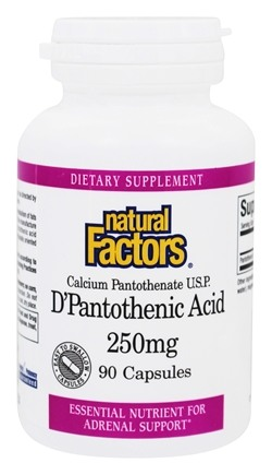 DROPPED: Natural Factors - D'Pantothenic Acid 250 mg. - 90 Capsules CLEARANCE PRICED