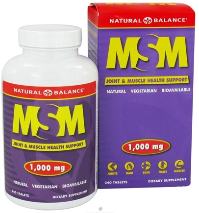 DROPPED: Natural Balance - MSM 1000 mg. - 240 Tablets CLEARANCE PRICED