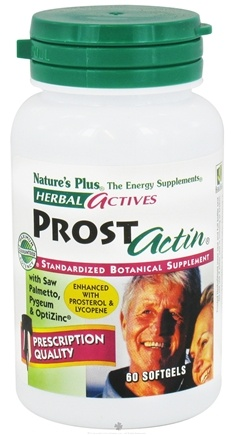 DROPPED: Nature's Plus - Herbal Actives ProstActin - 60 Softgels