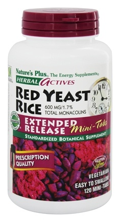 Natures Plus Herbal Actives Red Yeast Rice Mini Tabs Extended Release 600 Mg