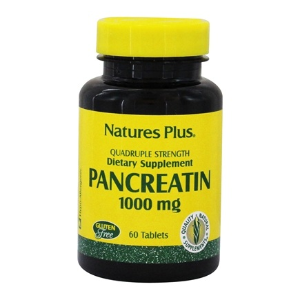 Nature's Plus - Pancreatin 1000 mg. - 60 Tablets