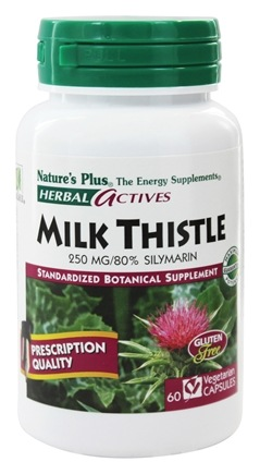 Nature's Plus - Herbal Actives Milk Thistle 250 mg. - 60 Vegetarian Capsules