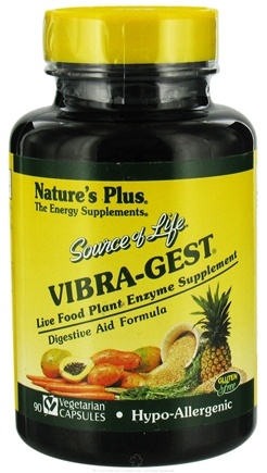 DROPPED: Nature's Plus - Source Of Life Vibra-Gest - 90 Vegetarian Capsules CLEARANCE PRICED