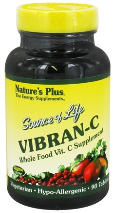 DROPPED: Nature's Plus - Source Of Life Vibran-C - 90 Tablets CLEARANCE PRICED