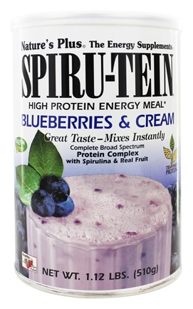 Nature's Plus - Spiru-Tein High Protein Energy Meal Blueberries & Cream - 1.12 lbs.