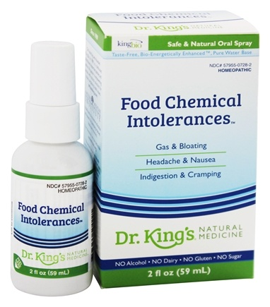 King Bio - Dr. Kings Homeopathic Natural Medicine Food Chemical Intolerances - 2 oz.